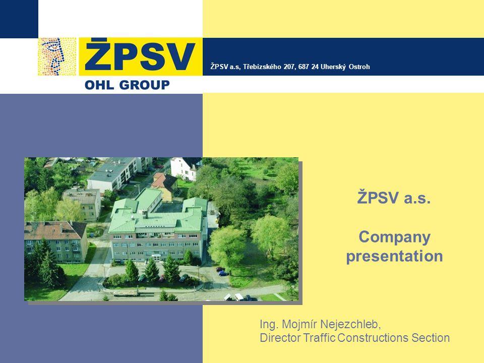 ŽPSV a.s. Company presentation