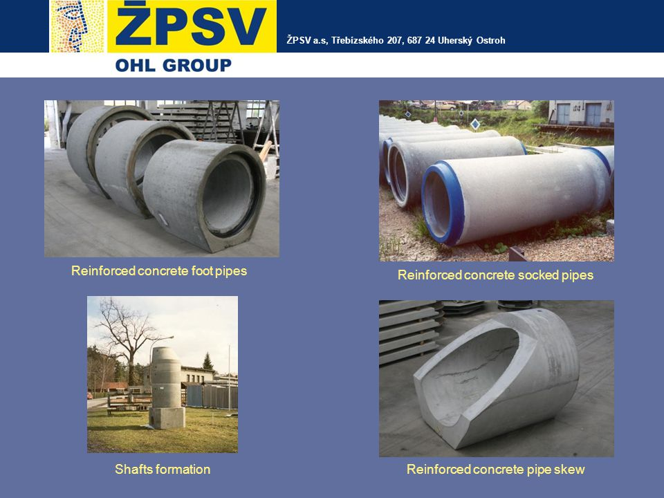 Reinforced concrete foot pipes Reinforced concrete socked pipes