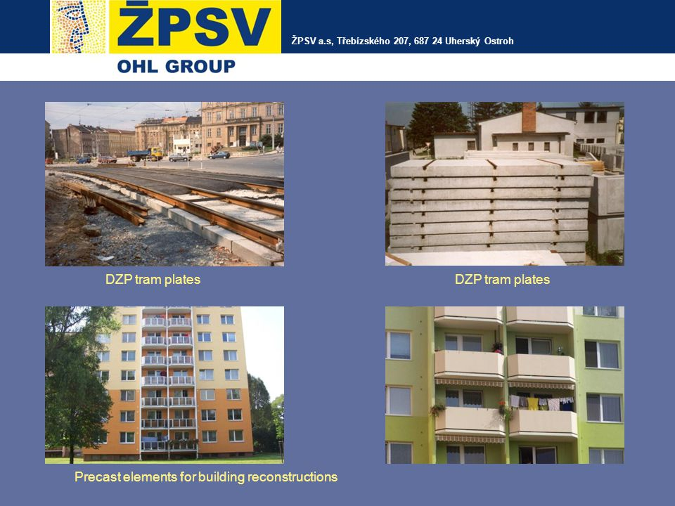Precast elements for building reconstructions