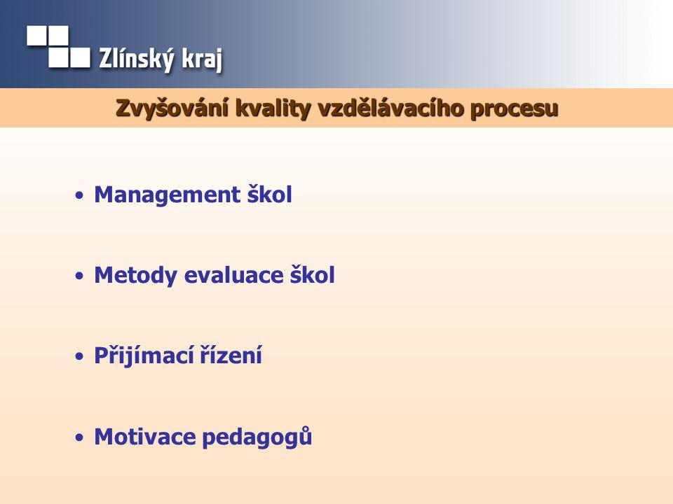 Zvyšování kvality vzdělávacího procesu