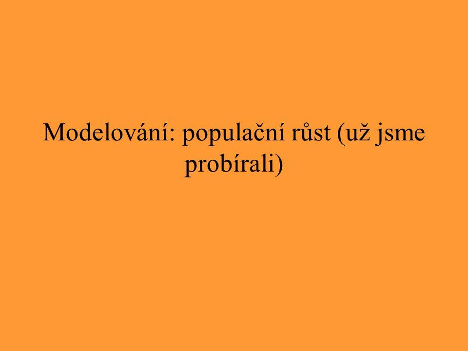 Modelování: populační růst (už jsme probírali)