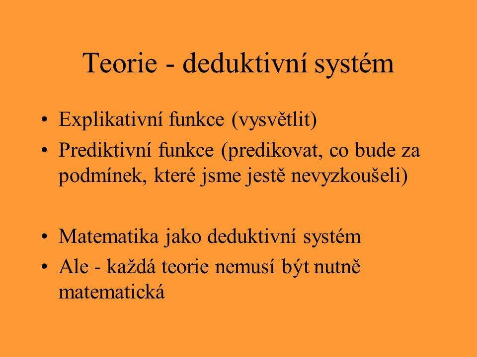 Teorie - deduktivní systém