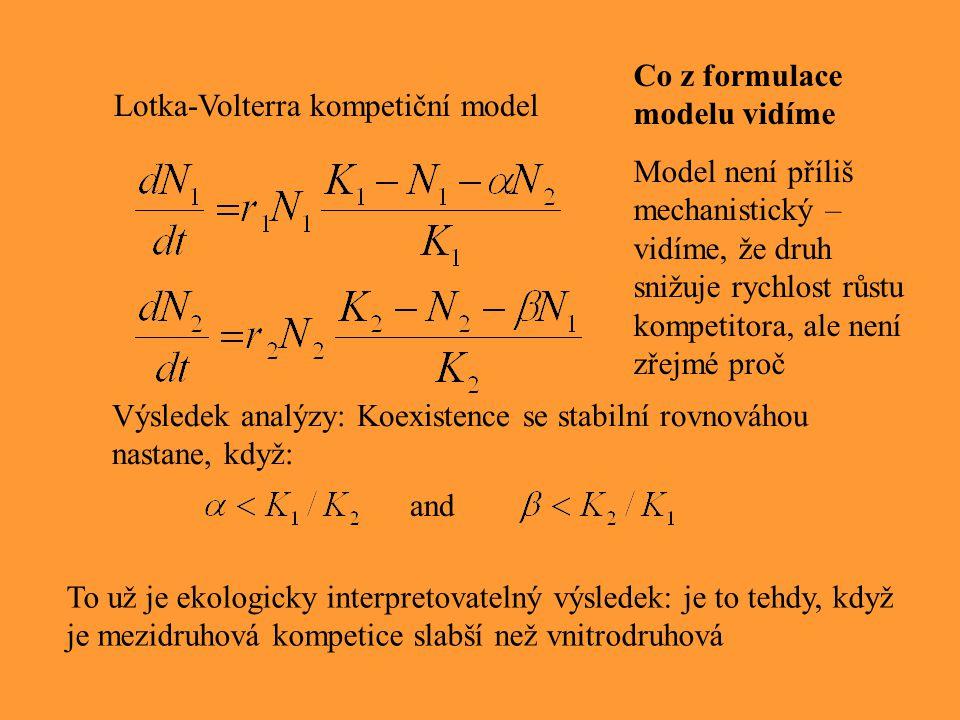 Co z formulace modelu vidíme