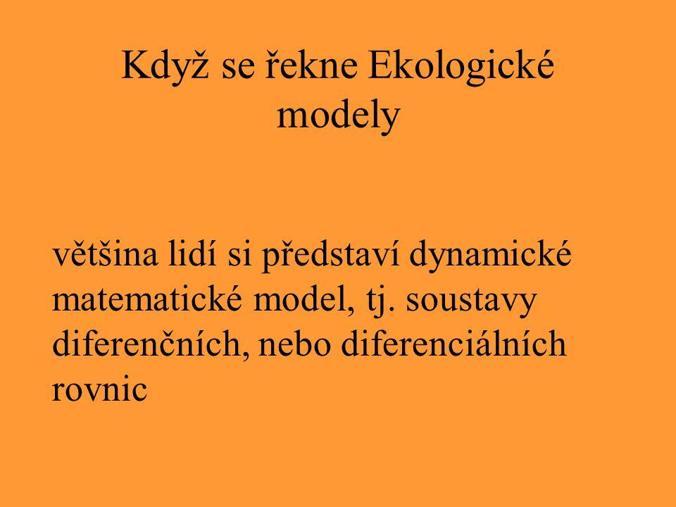 Když se řekne Ekologické modely