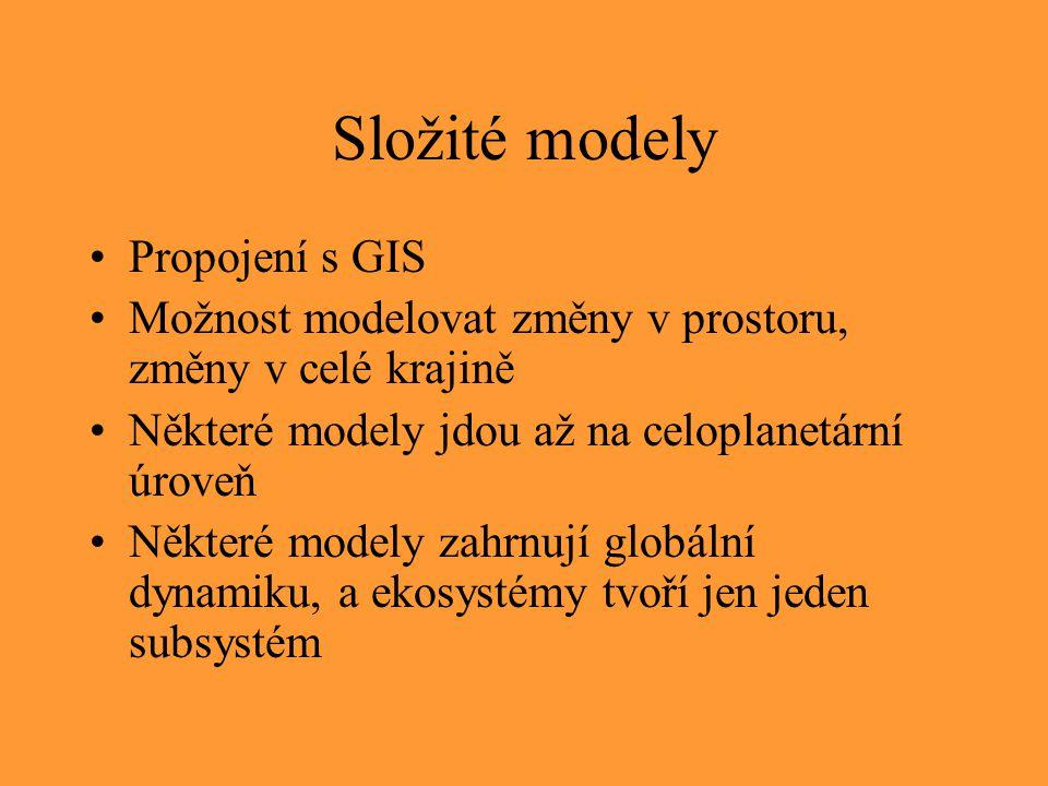 Složité modely Propojení s GIS