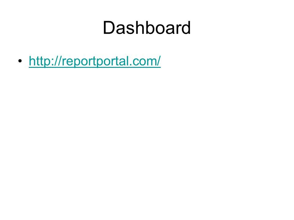 Dashboard http://reportportal.com/