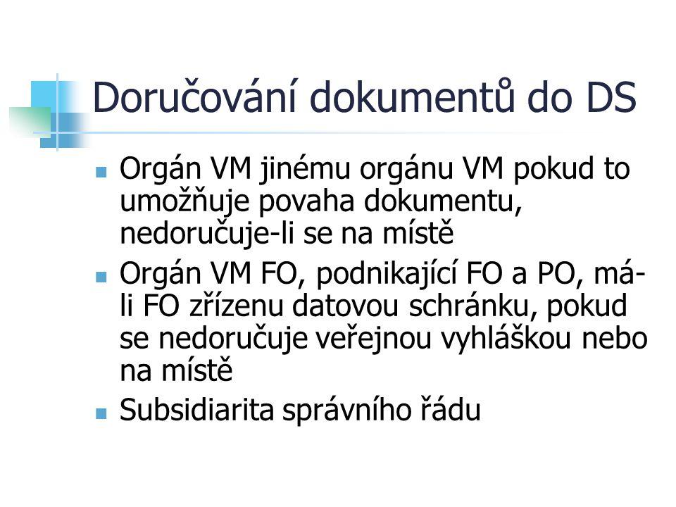 Doručování dokumentů do DS