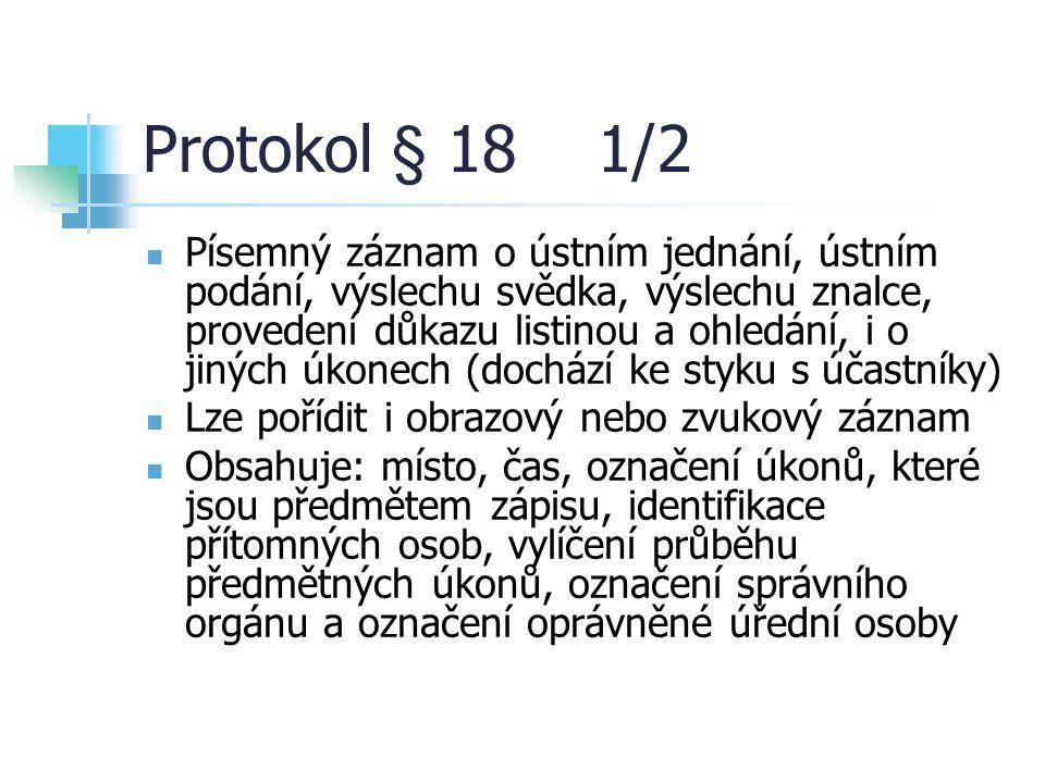 Protokol § 18 1/2