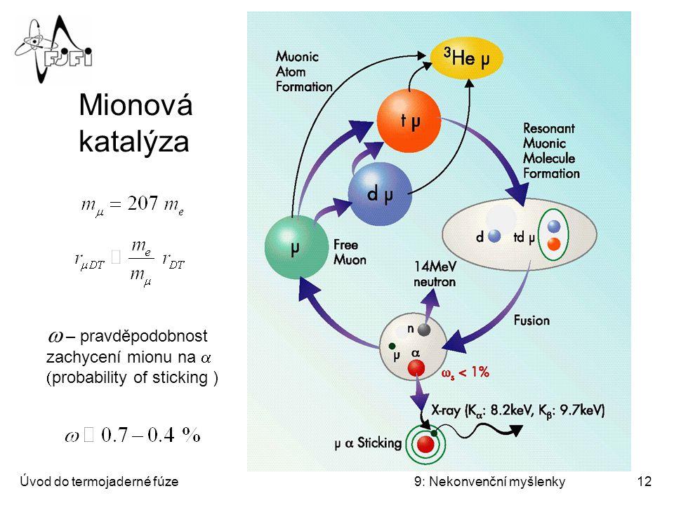Mionová katalýza II Mionová katalýza