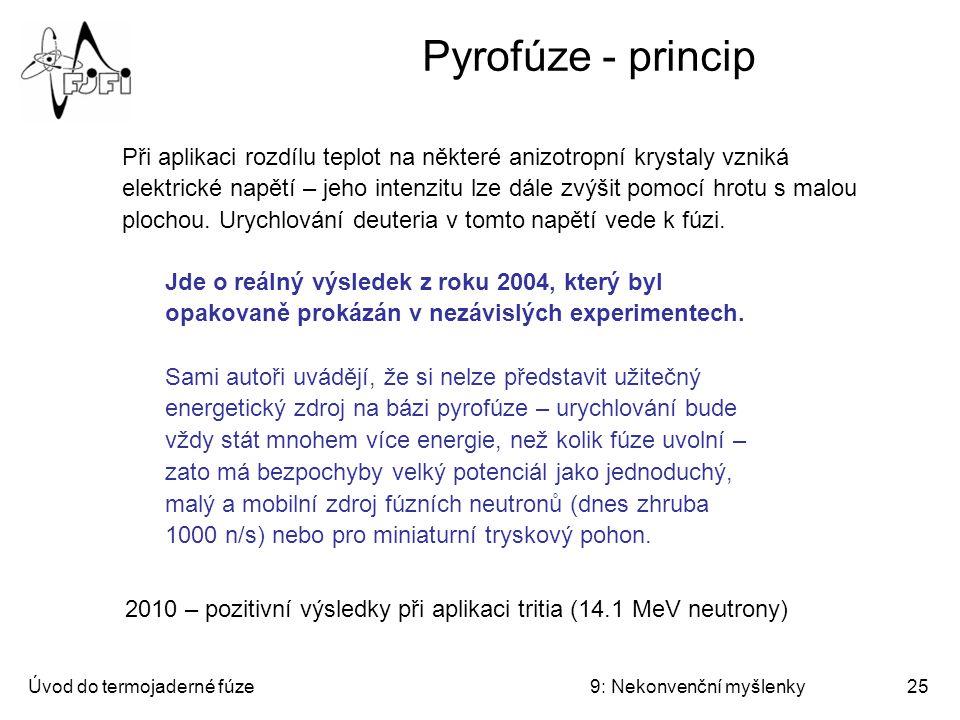 Pyrofúze - princip