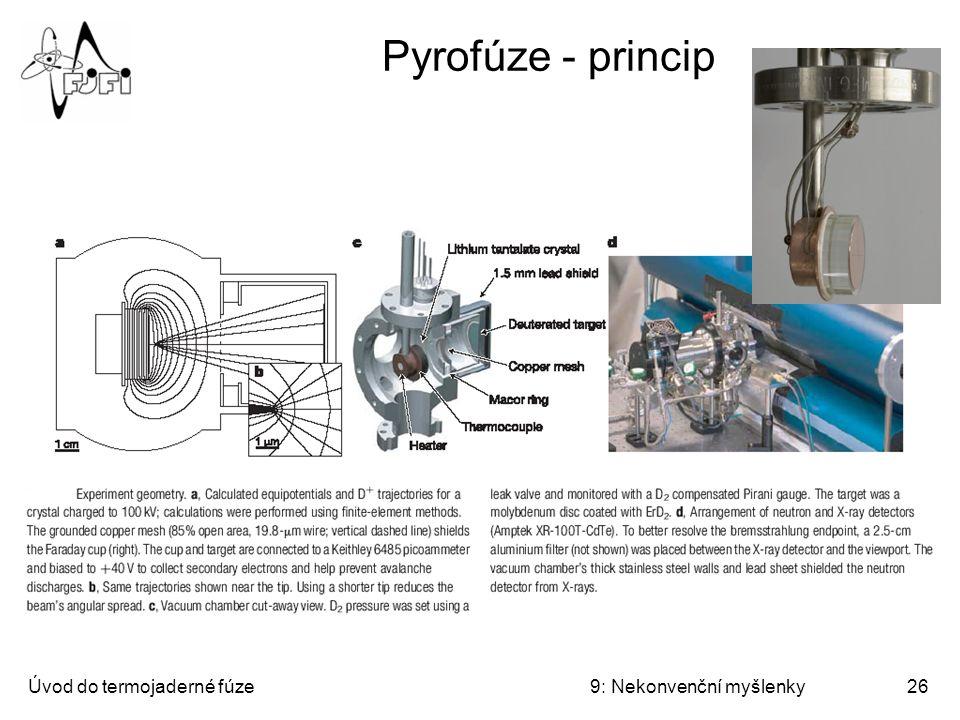 Pyrofúze - princip Úvod do termojaderné fúze 9: Nekonvenční myšlenky