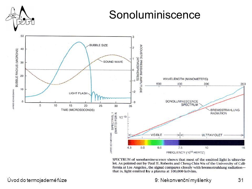 Sonoluminiscence Úvod do termojaderné fúze 9: Nekonvenční myšlenky