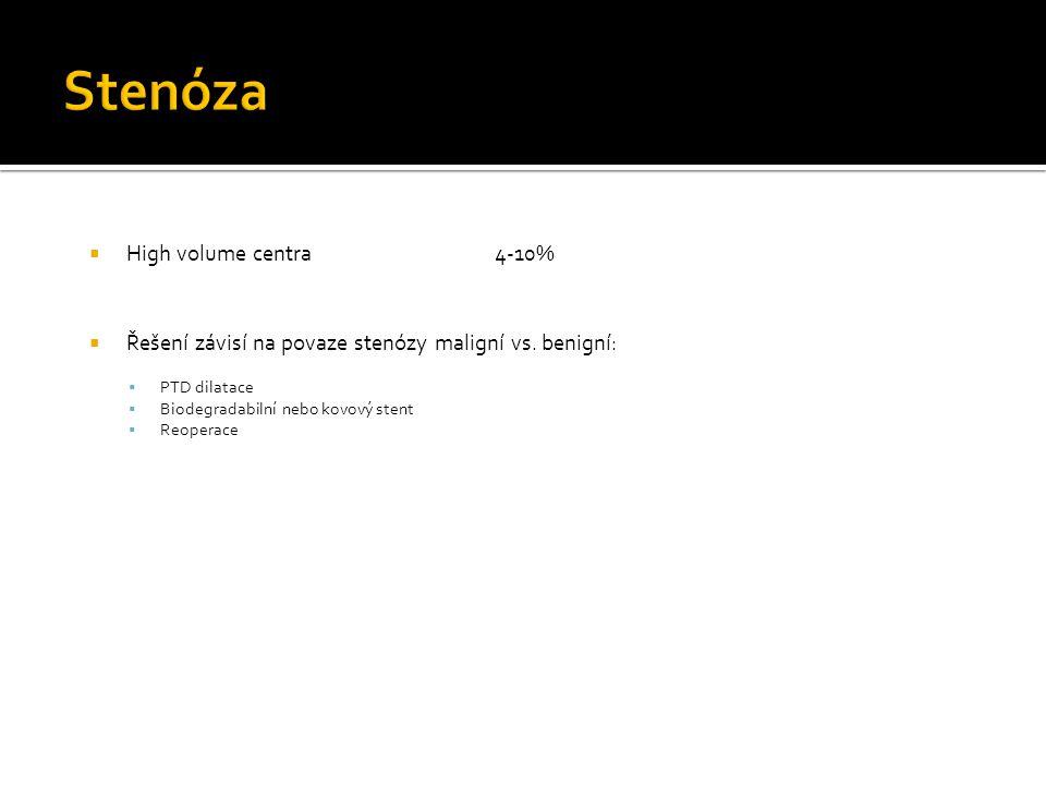 Stenóza High volume centra 4-10%