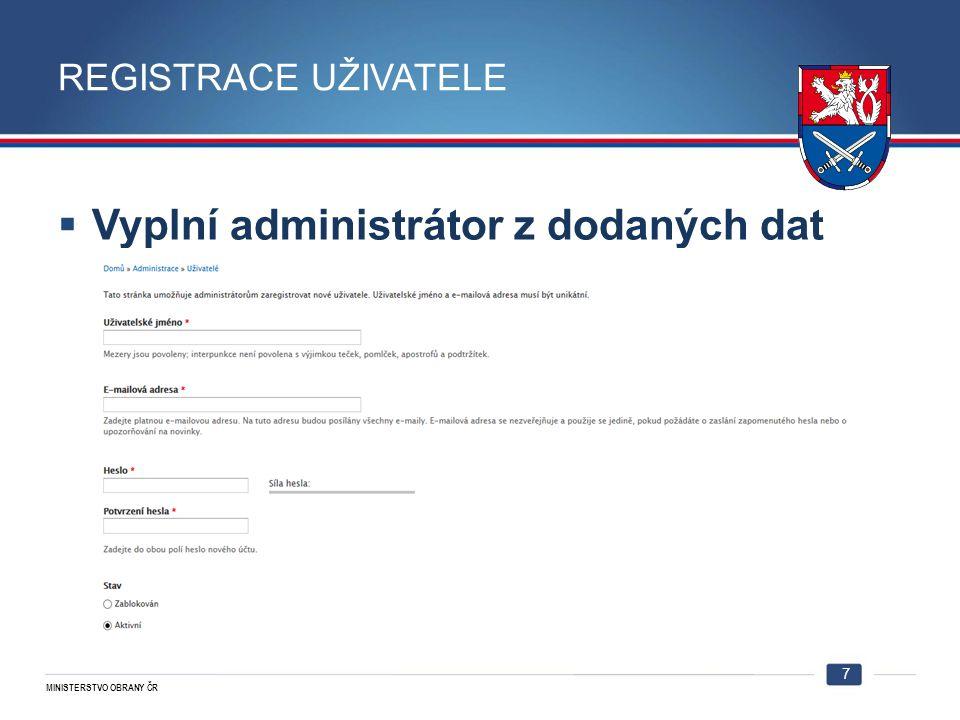 Vyplní administrátor z dodaných dat