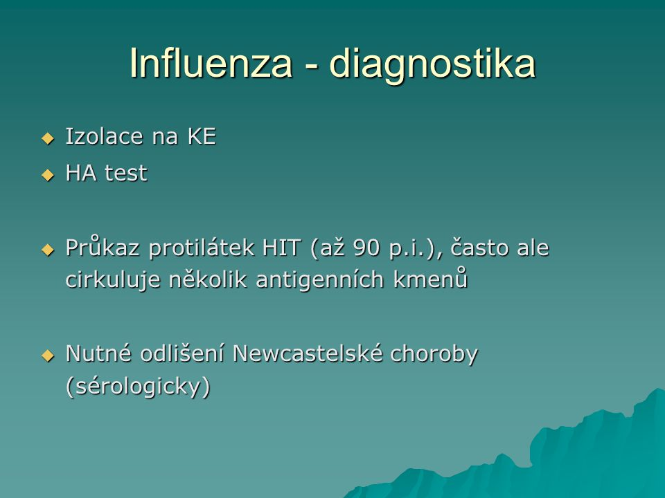 Influenza - diagnostika