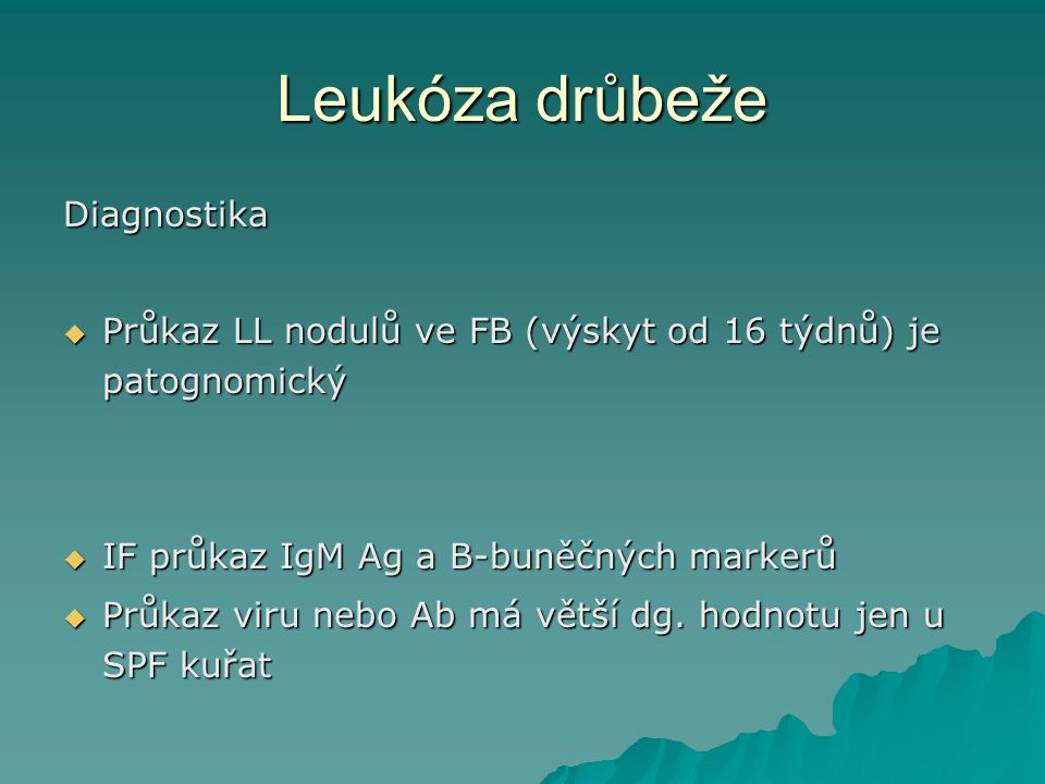 Leukóza drůbeže Diagnostika
