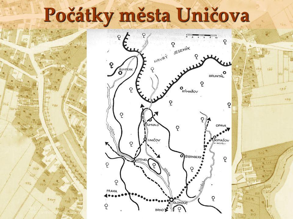 Počátky města Uničova