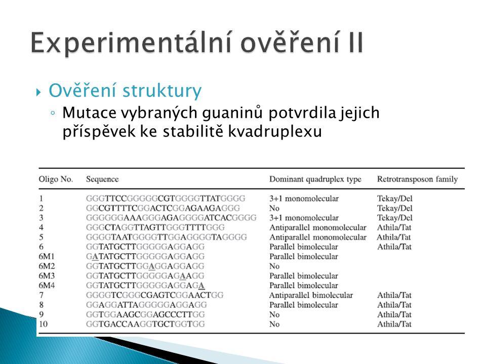 Experimentální ověření II