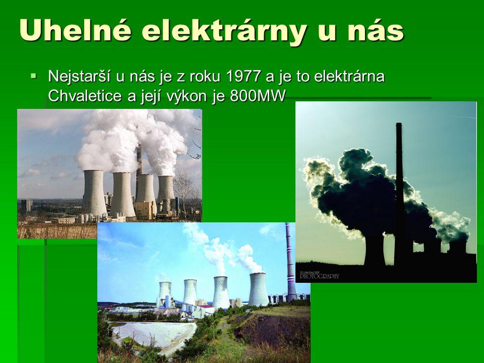 Uhelné elektrárny u nás