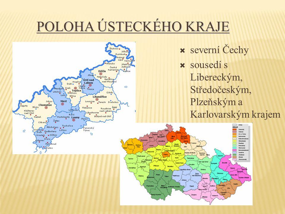 Poloha Ústeckého kraje