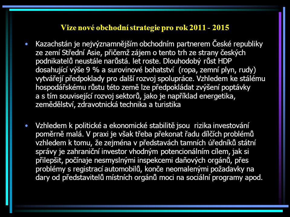 Vize nové obchodní strategie pro rok 2011 - 2015