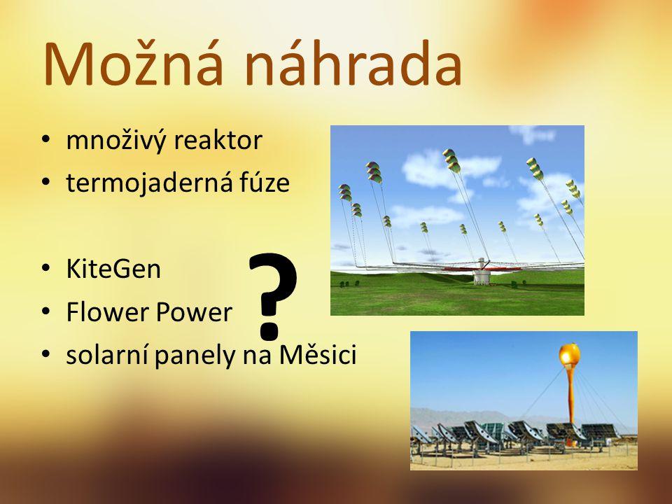 Možná náhrada množivý reaktor termojaderná fúze KiteGen Flower Power