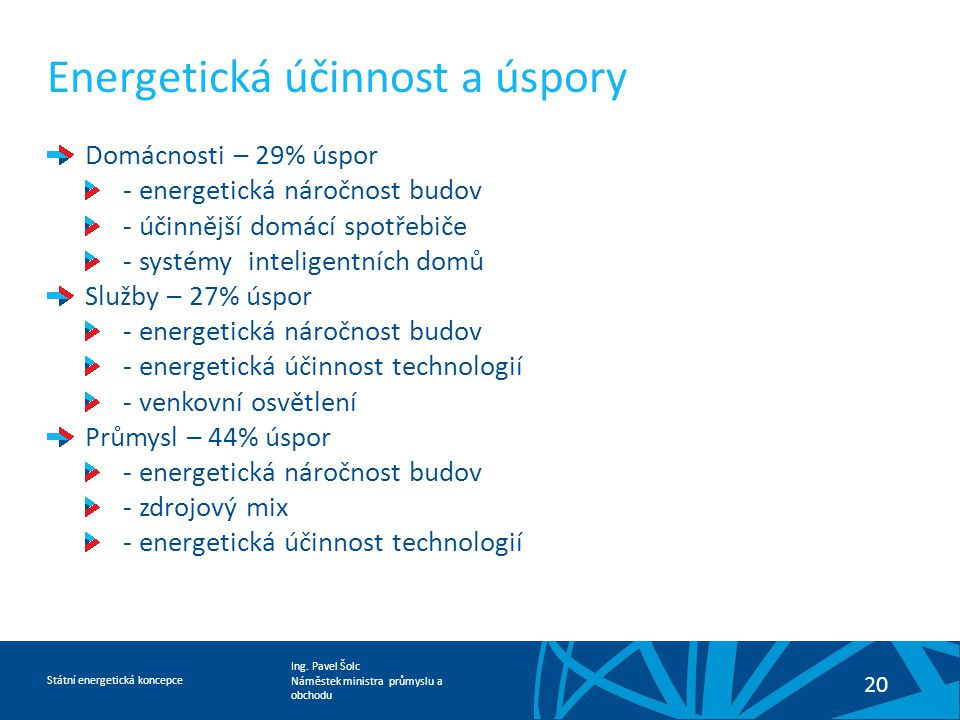 Energetická účinnost a úspory