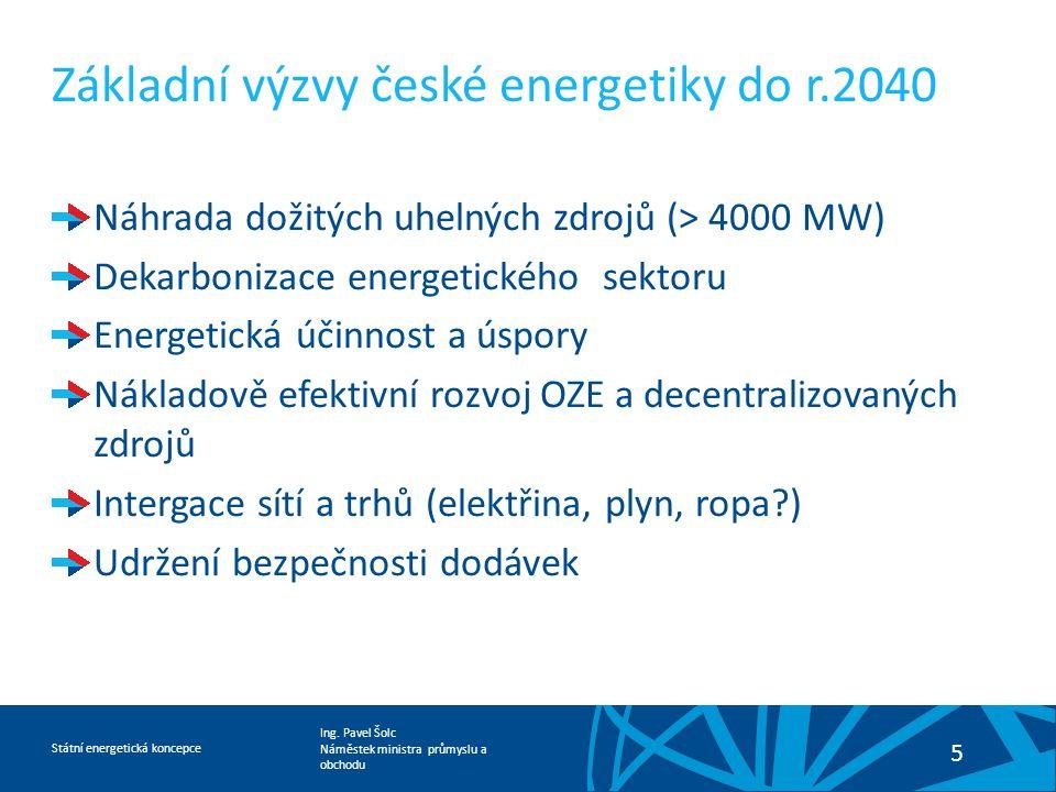 Základní výzvy české energetiky do r.2040