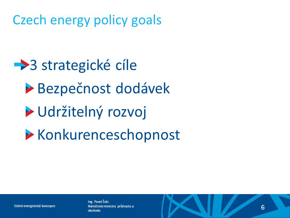 Czech energy policy goals