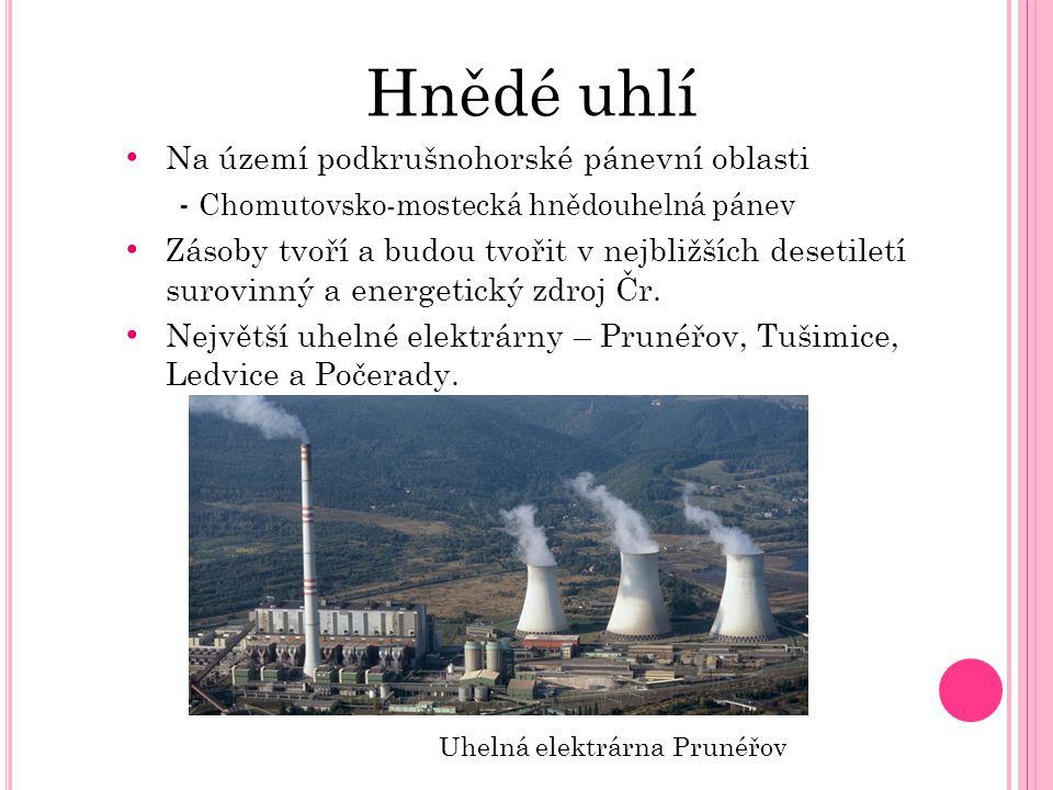 Hnědé uhlí Na území podkrušnohorské pánevní oblasti