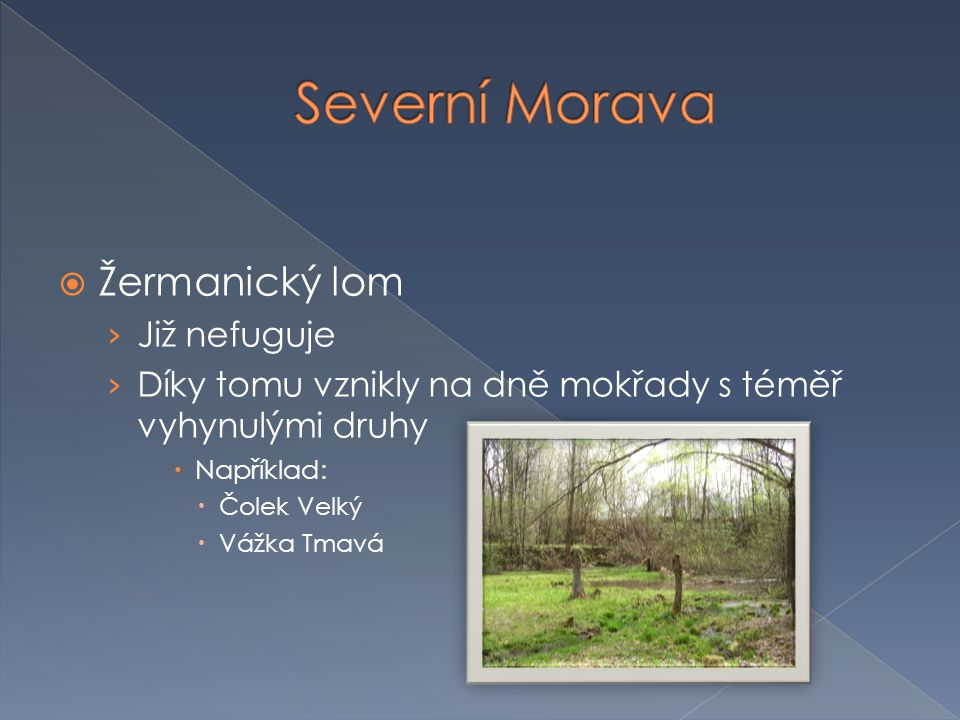Severní Morava Žermanický lom Již nefuguje