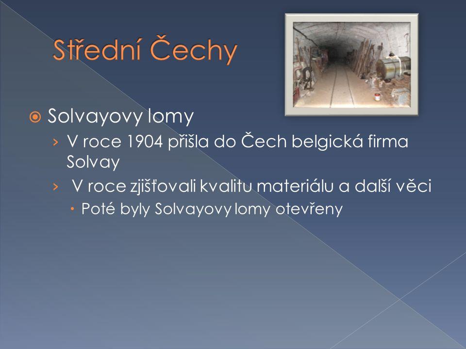 Střední Čechy Solvayovy lomy
