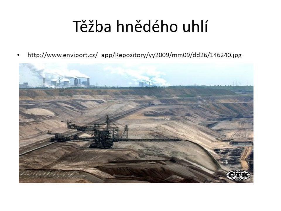 Těžba hnědého uhlí http://www.enviport.cz/_app/Repository/yy2009/mm09/dd26/146240.jpg