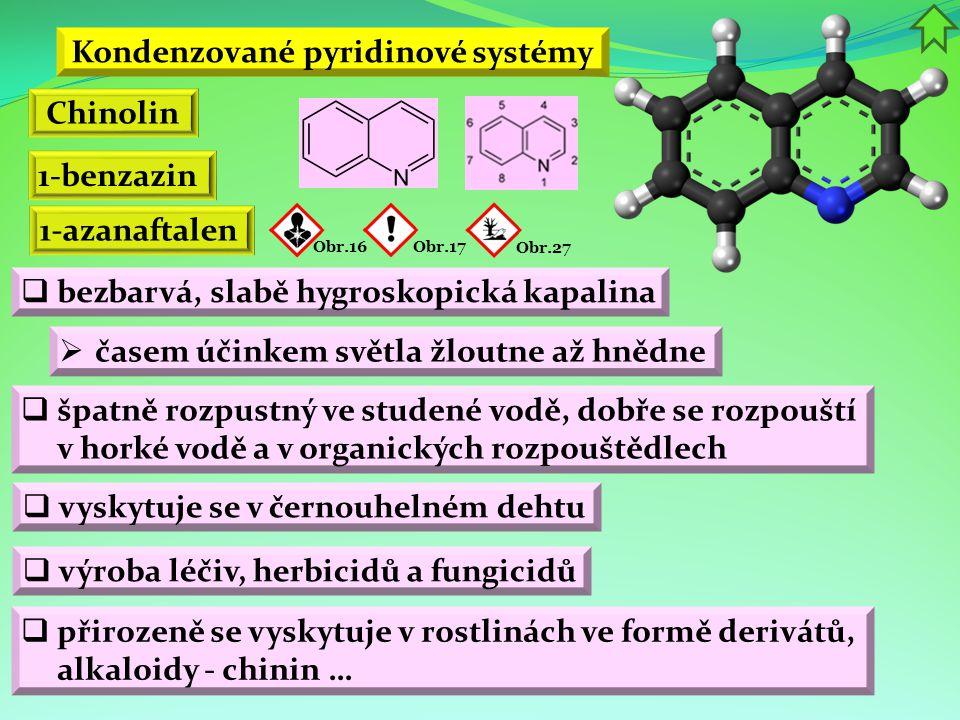Kondenzované pyridinové systémy