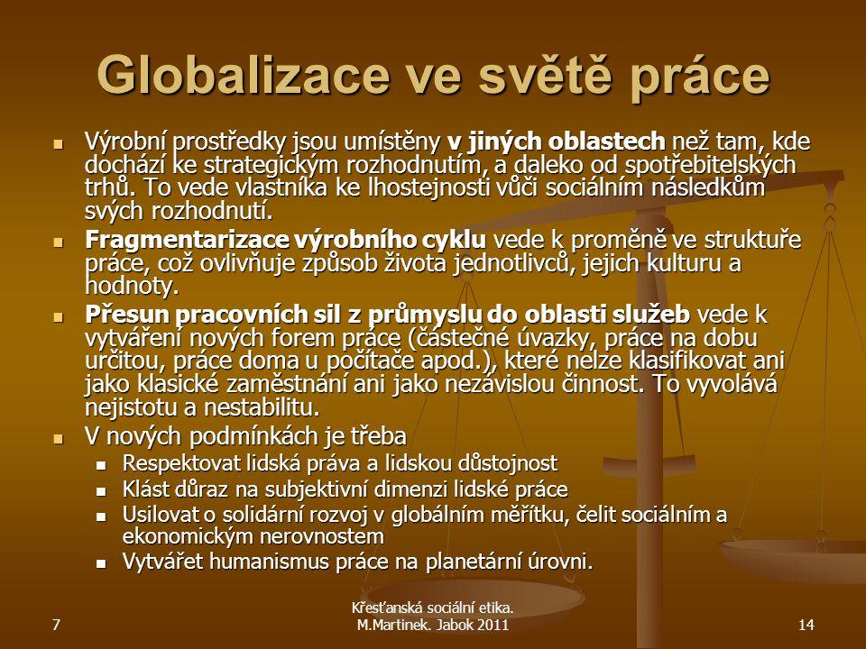 Globalizace ve světě práce