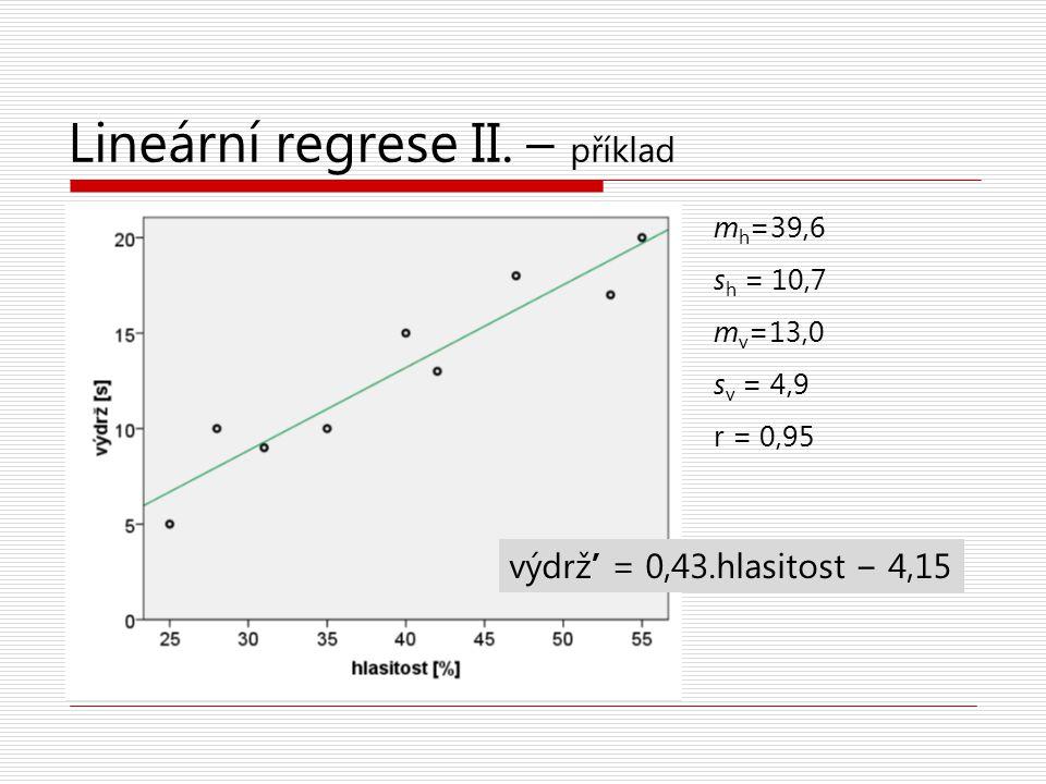 Lineární regrese II. – příklad