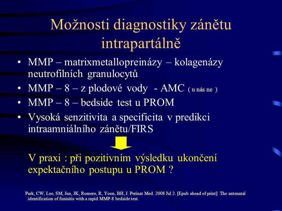 Možnosti diagnostiky zánětu intrapartálně