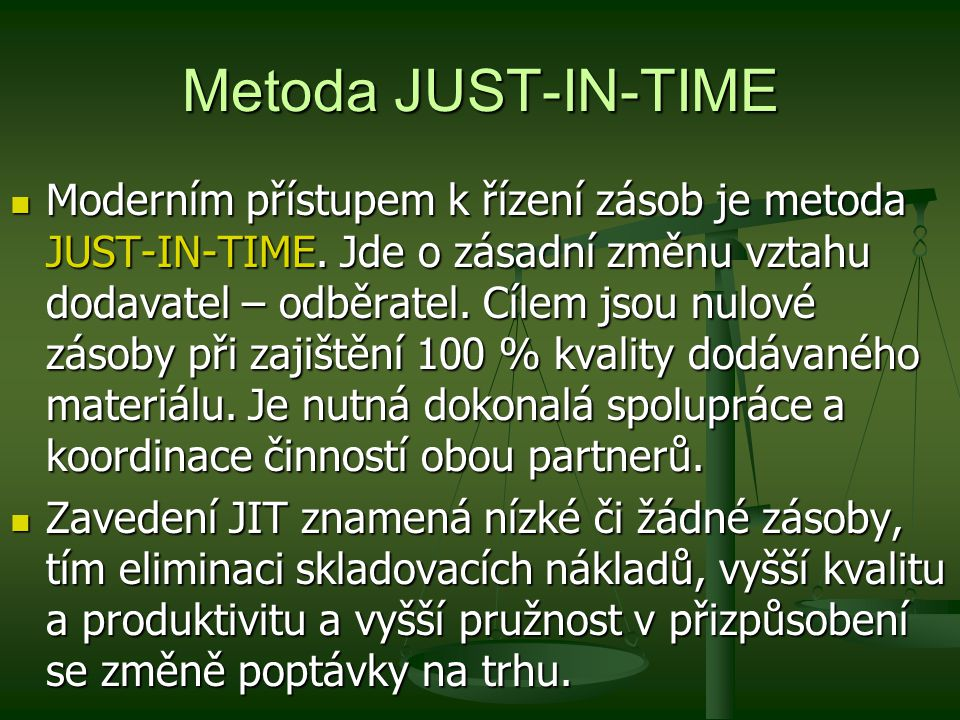 Metoda JUST-IN-TIME