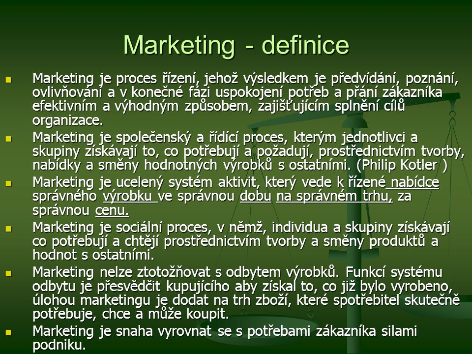 Marketing - definice