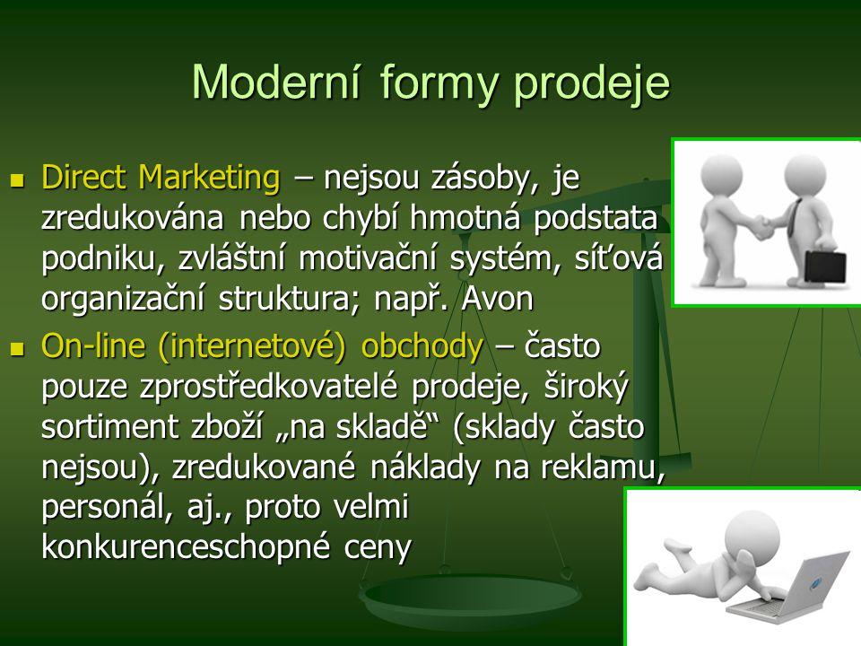 Moderní formy prodeje