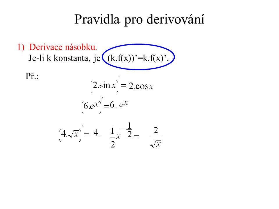 Pravidla pro derivování