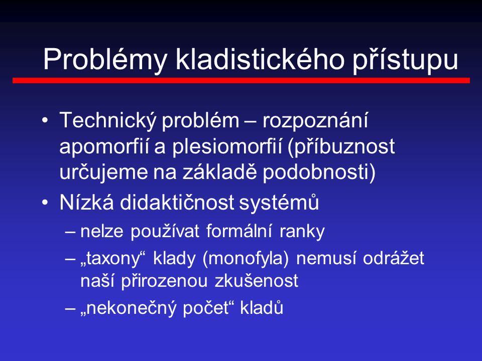 Problémy kladistického přístupu