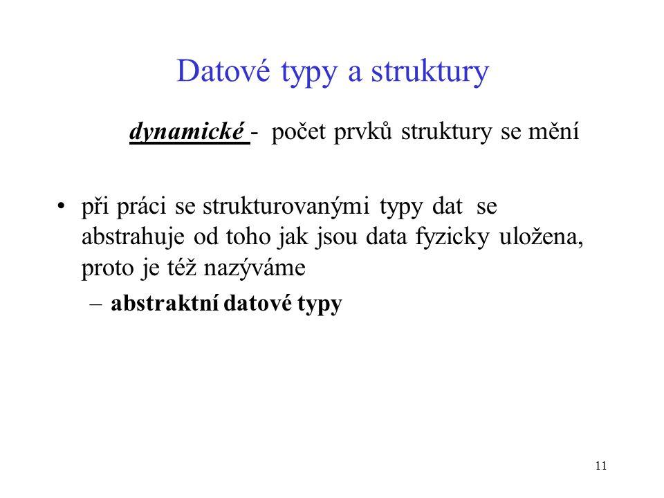 Datové typy a struktury