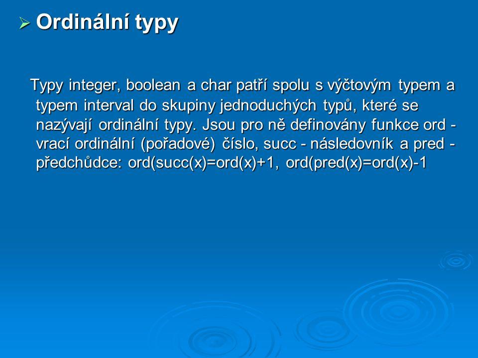Ordinální typy