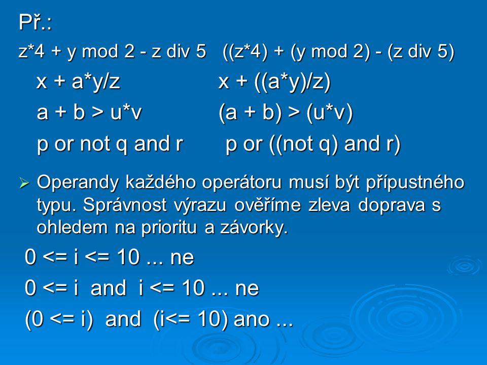 a + b > u*v (a + b) > (u*v)