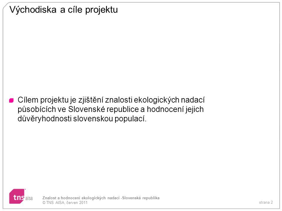 Východiska a cíle projektu