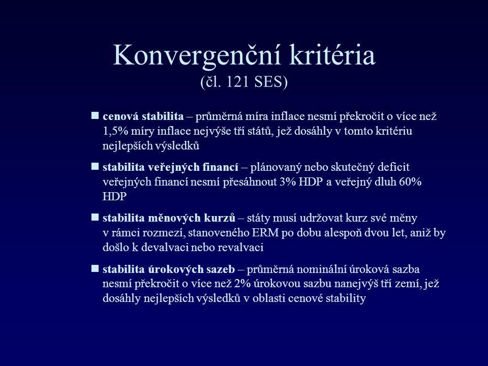 Konvergenční kritéria (čl. 121 SES)