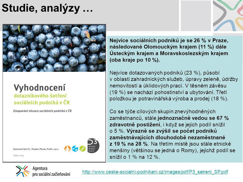 Studie, analýzy …
