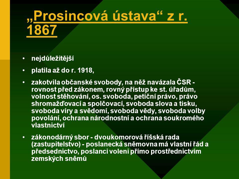 """""""Prosincová ústava z r. 1867"""
