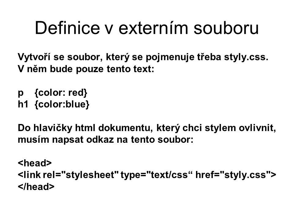 Definice v externím souboru